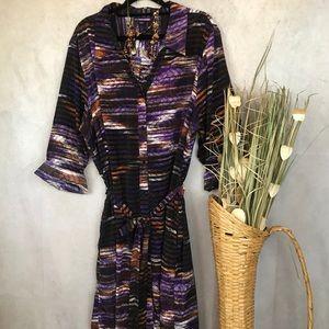 LYS | Tie Shirt Dress | Purple | 3X
